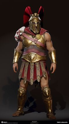 ArtStation - Spartan Berserker, Sabin Lalancette Assassins Creed Art, Assassins Creed Odyssey, Greek Soldier, All Assassin's Creed, Ancient Armor, Roman Warriors, Spartan Warrior, Greek Warrior, Templer
