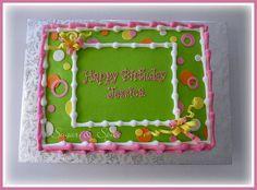 Fun Birthday Sheetcake with Fondant...