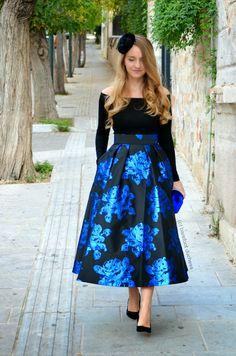 Old Athens ---  Skirt // COAST via ASOS, Top // ASOS Purse // thanks to Migato, Fascinator // H&M, Heels // ZARA