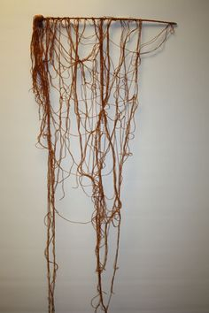 ALICE ANDERSON Power Figure Asleep (2011) Sculpture made of threads and mixed media, 50 cm x 80 cm