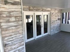 Garage Walls, Garage Doors, Backyard Plan, Grey Wash, Outdoor Living, Outdoor Decor, Pallet, Gray, Building