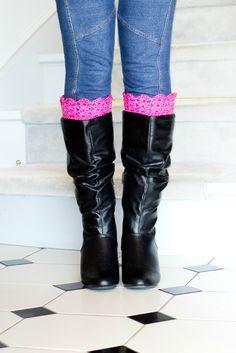 Vintage Inspired Boot Cuffs Crochet Pattern via Hopeful Honey