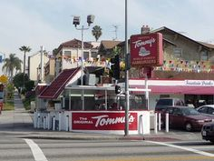 The Original Tommy's World Famous Hamburgers on the corner of Beverly & Rampart in Los Angeles, CA.  Favorite item(s): Double chili cheese burger, chili cheese hot dog, and chili cheese fries.