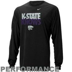 Nike Kansas State Wildcats Knows Legend Long Sleeve Performance T-Shirt - Black