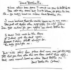 Don't Bother Me - George Harrison