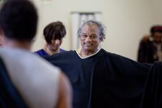 Jeffery Kissoon in rehearsal for Julius Caesar.  Photo by Kwame Lestrade.