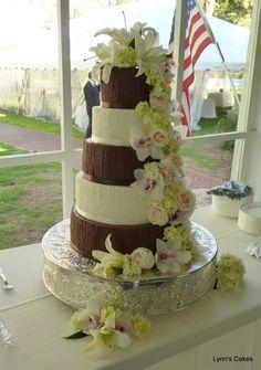 Chocolate and Cream Brides Cake