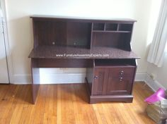 office desk with hutch from overstock.com assembled in laurel md by furniture assembly experts llc - Call 2407052263