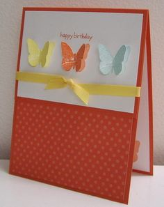 Stamping with Loll: Spring is Here and Three Little Butterflies cards