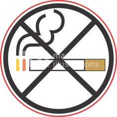 Illustration of no smoking symbol
