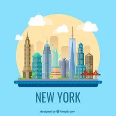 New York city illustration I Free Vector