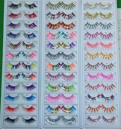 #fake #eyelashes #rainbow