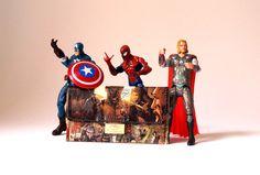 Tabaktasche X-MAN Marvel Comic upcycling Unikat! Tabakbeutel,Tasche Wolverine, Spiderman, Captain America Comic Recycling handmade in Berlin von PauwPauw auf Etsy