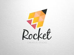 Love the mosaic look of the pencil in this logo. Could we mimic this with a different media/activism-related icon? (Megaphone?) Rocket Creative Studio by Alex Broekhuizen