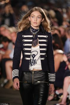 Showed off her own designs: Gigi's collaboration with Hilfiger has a nautical…
