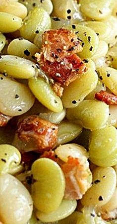 Southern Butter Beans with Bacon - Lima Beans - Beans . - Southern Butter Beans with Bacon – Lima Beans – - Side Dish Recipes, Vegetable Recipes, Soul Food Recipes, Healthy Southern Recipes, Healthy Recipes, Healthy Food, Butter Beans, Butter Pasta, Steak Butter
