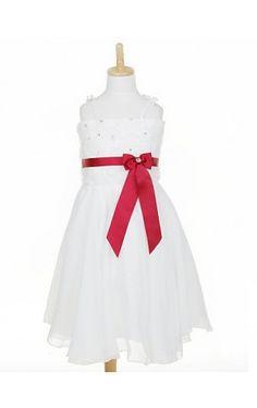 Beautiful Sleeveless Chiffon & Lace Wedding/Evening Flower Girl Dress With Crystal