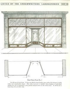Zouri Store Fronts, c. 1930.  Zouri Drawn Metal Co. From the Association for…