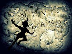 Neverland map ...  find Treasure Island!  ctc