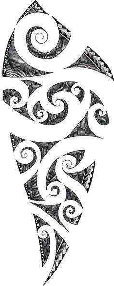 plantilla+para+tatuar+maorie.jpg (500×1251)
