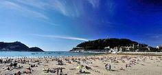 San Sebastian city beach  - Spain