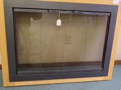 "Heritage Smoke Glass Fireplace Door Black 38 3/4""x28 3/8""Metal Frame NEW Vtg #Heritage #UNKNOWN"