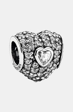 PANDORA 'In My Heart' Pavé Heart Charm available at #Nordstrom