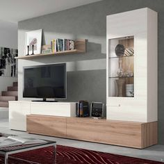 45 Amazing Wall Storage Items For Your Contemporary Living Room - Floating wall storage is a mixture of sensible storage and residential décor vogue the place the storage unit is mounted to the wall and is used to handle CDs and DVDs. Living Room Furniture, Living Room Decor, Living Room Storage, Modern Tv Wall Units, Living Room Tv Unit, Muebles Living, Tv Wall Decor, Tv Wall Design, Living Room Designs
