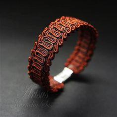 500 Soutache Bracelet, Soutache Jewelry, Macrame Jewelry, Jewelry Crafts, Handmade Jewelry, Mixed Media Jewelry, Textile Jewelry, Micro Macrame, Bracelet Designs