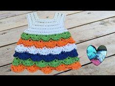 Bello vestido tejido a crochet todas las tallas / Robe crochet toutes les tailles