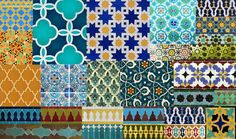 Moroccan Tile Patterns | ... collage of the smaller images I found, different tiles and patterns