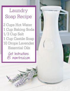 Homemade Laundry Soap for Sensitive Skin