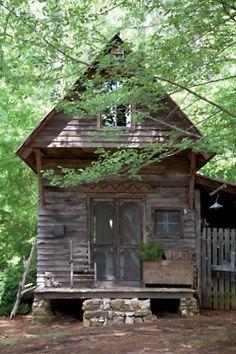 I will save you beautiful house!!!!! (via Photos: Cabin Fever | Garden and Gun) Cabin Fever, Happy Campers, Gazebo, Restoration, Refurbishment, Kiosk