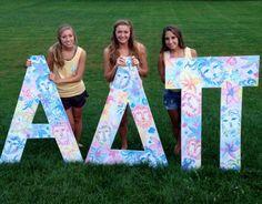 Alpha Delta Pi at University of Kentucky #AlphaDeltaPi #ADPi #BidDay #letters #sorority #Kentucky