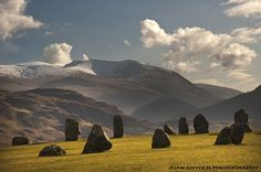 Castlerigg Stone Circle, Keswick in the Lake District National Park, Cumbria, England: