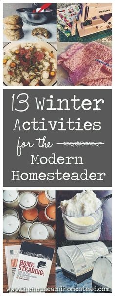 13 Winter Activities for the Modern Homesteader Homesteading is typically associated with fair-weather activities like farming, gardening and preserving the … Homestead Farm, Homestead Living, Homestead Survival, Survival Skills, Homestead Layout, Survival Prepping, Emergency Preparedness, Survival Gear, Modern Homesteading