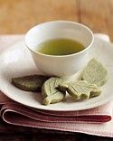 Green tea with green tea cookies