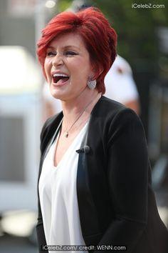 Sharon Osbourne #hair http://www.icelebz.com/events/sharon_osbourne_appears_on_extra_/photo2.html