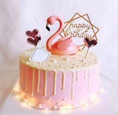 Flamingo Cake Topper Wedding Figurine Engagement Decoration Anniversary Kids Adult Birthday Ca. Birthday Cakes Girls Kids, 12th Birthday Cake, Cool Birthday Cakes, Birthday Cake Toppers, Wedding Cake Toppers, Cake Kids, Flamingo Cake, Flamingo Birthday, Birthday Cake With Flowers