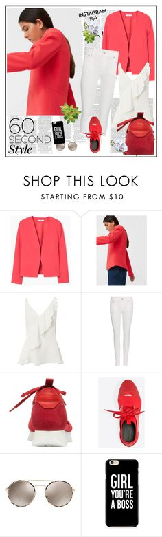 """""""60-Second Style: Insta-Ready♥♥♥"""" by marthalux ❤ liked on Polyvore featuring MANGO, Exclusive for Intermix, Polo Ralph Lauren, Balenciaga, Prada, Victoria Beckham, 60secondstyle and PVShareYourStyle"""