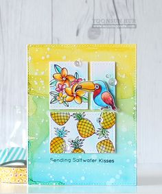 Polynesian Paradise, Stitched Rectangle STAX Die-namics - Yoonsun Hur  #mftstamps