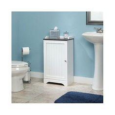 Cabinet Storage Bathroom Furniture Door White Home Kitchen Shelves Wood Pantry