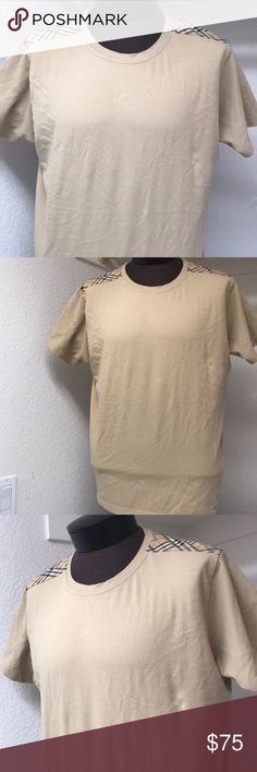 Burberry men's shirt with Nova check large Great quality shirt ghat has some used but no hole or tear noted,just need ironing. Burberry Shirts Tees - Short Sleeve