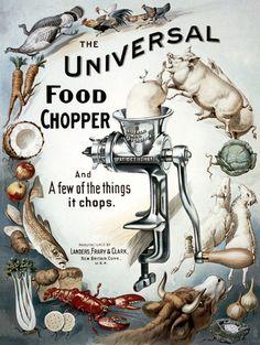 The Universal Food Chopper | Vintage Poster #vintage #poster #food