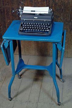 Toledo Typewriter Stand in Blue