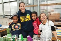 """FoodCorps: Bringing Healthy Food to Kids - Organic Connections """"Last year they built and revitalized 411 school and community gardens, tending with kids some 13 football fields of fresh and healthy food. They taught more than 67,000 children about eating nutritiously.... They served up some 46,000 pounds of fresh, locally grown produce in school cafeterias around the country. ..."""""""