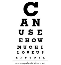 Try my online eye chart maker. Generate beautiful high