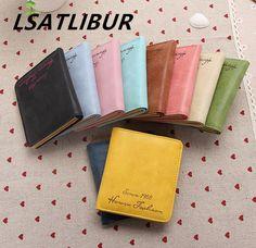 2015 new hot sale women soft matte surface Piduo Ka-bit retro short paragraph women wallet card package credit card dh171