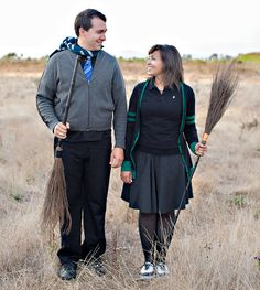 Harry Potter Engagement Photos. A really cute idea, but not sure if I would do this