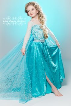 Amazing Elsa dress, my daughter would go nuts for this! Frozen Custom Elsa Costume by EllaDynae on Etsy, $280.00